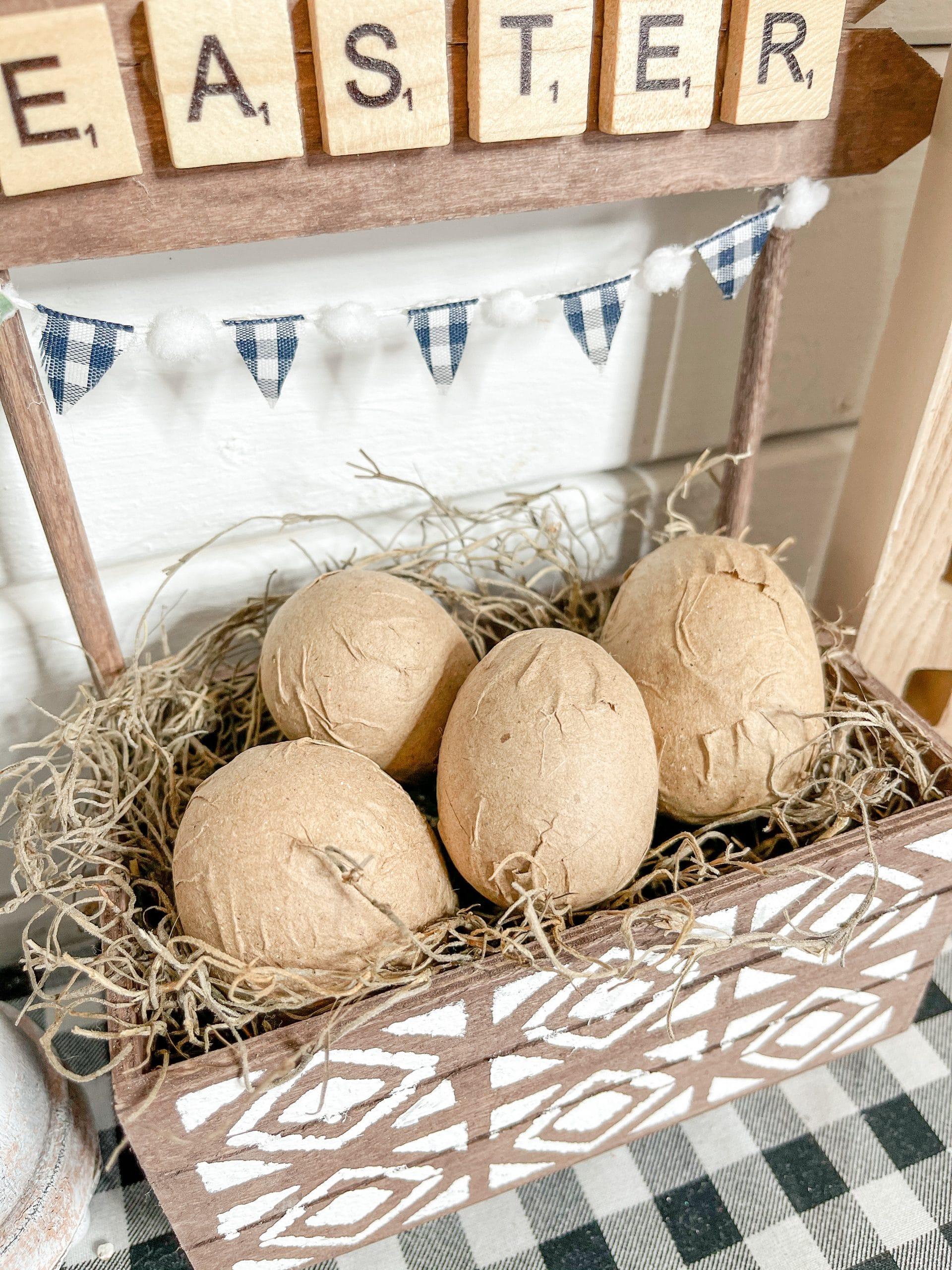 DIY Farmhouse Easter Crate