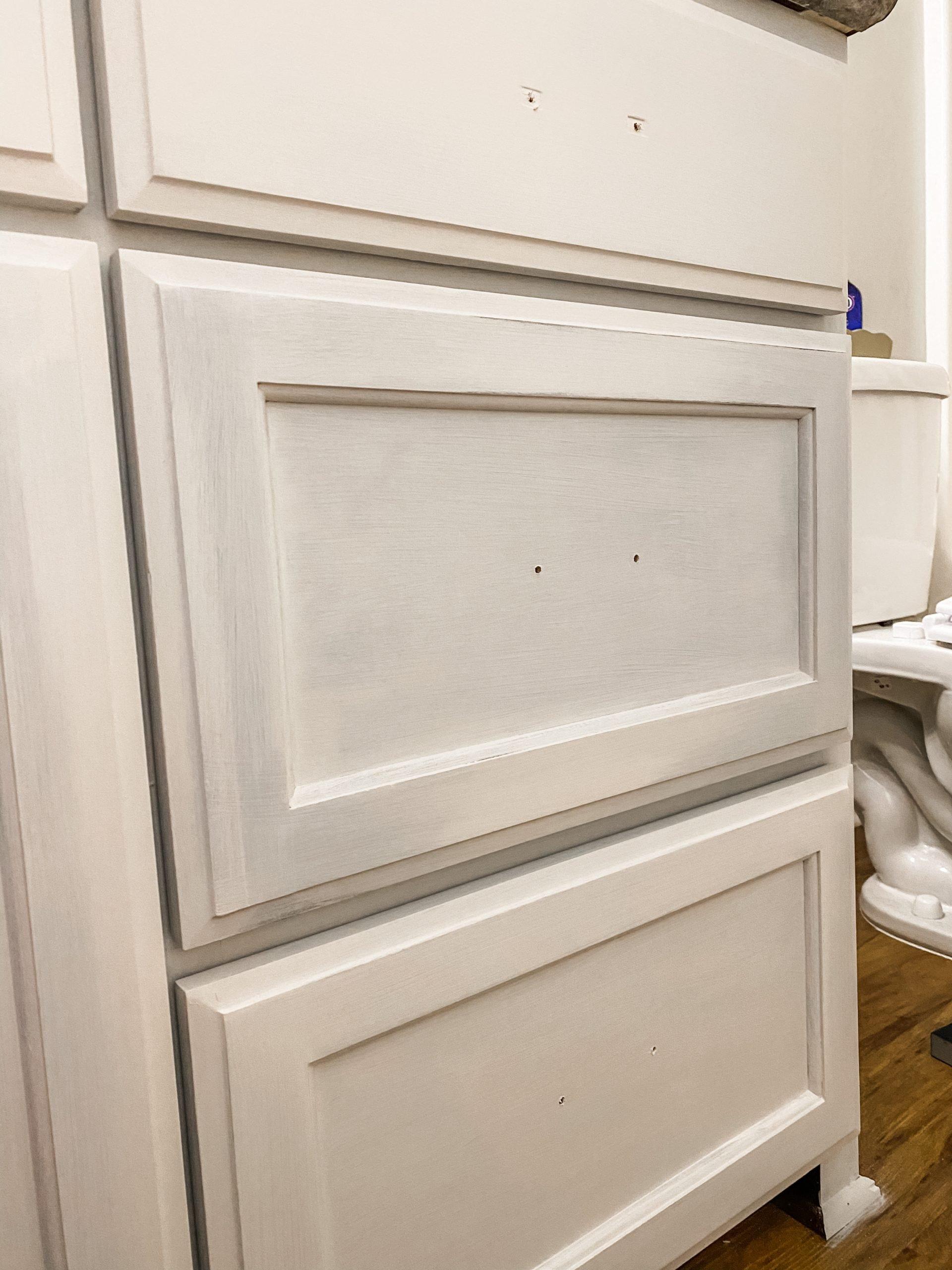 paint your bathroom vanity in one weekend
