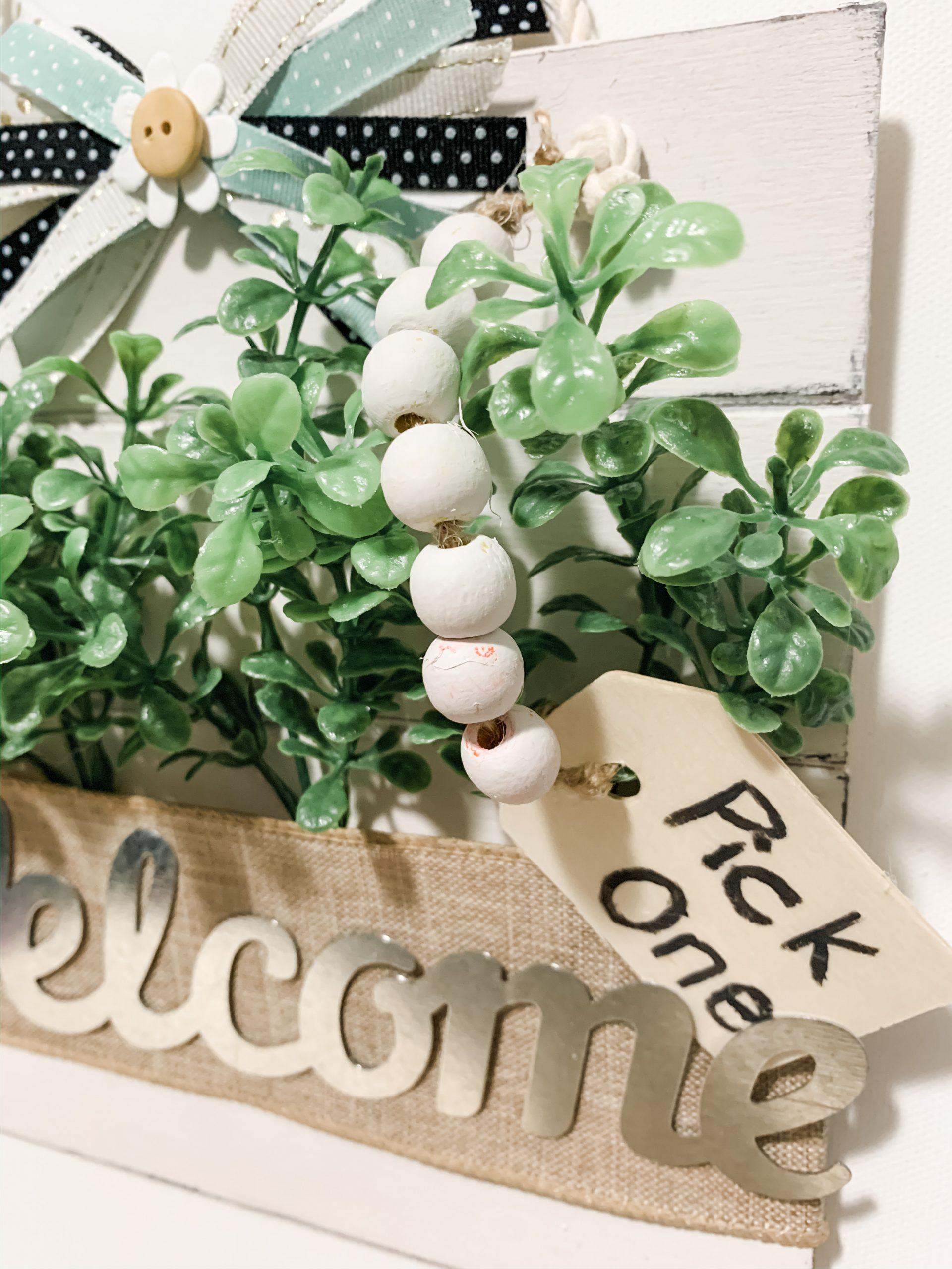 DIY Hanging Spring Welcome Decor