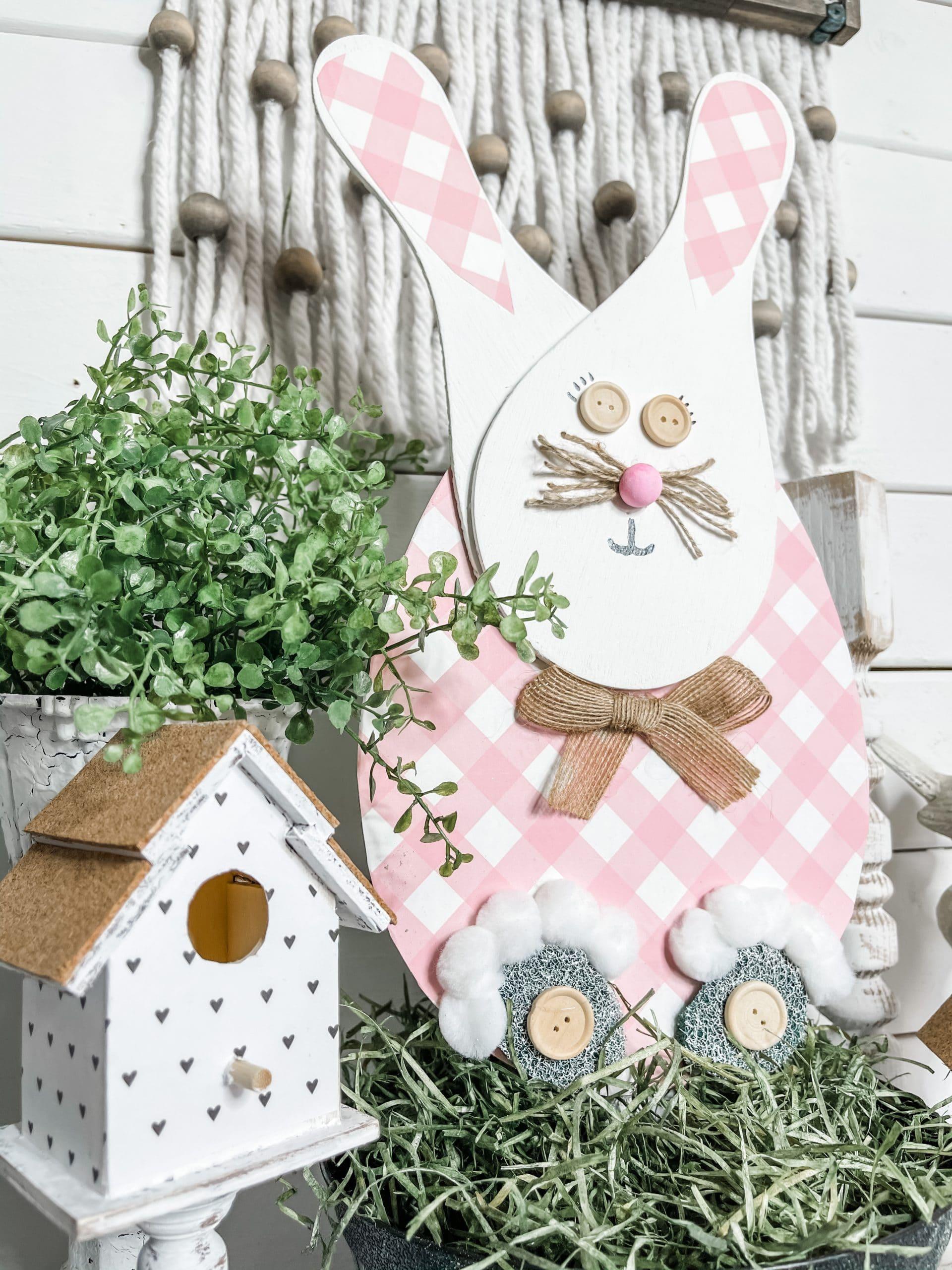 DIY Dollar Tree Paddle Board Easter Bunny