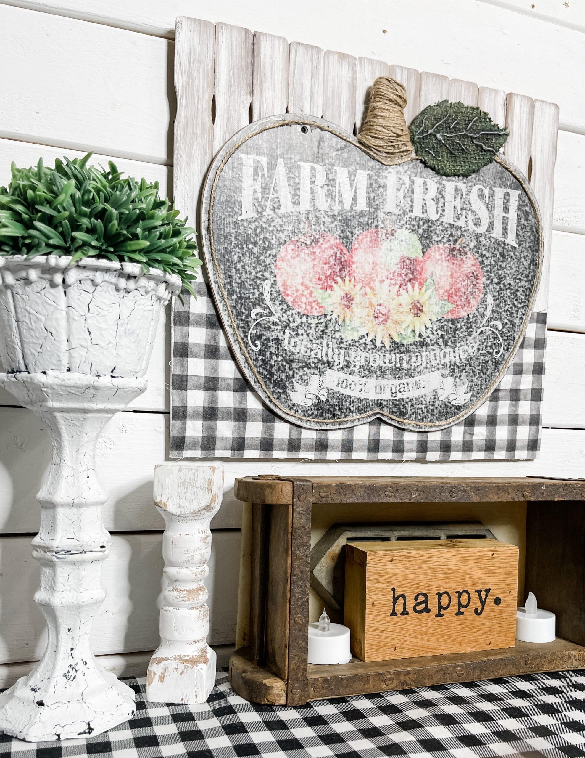 Dollar Tree Apple DIY Farmhouse Decor