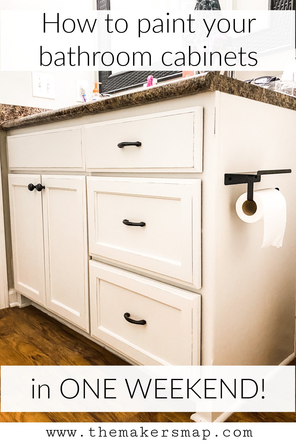 paint your bathroom cabinets in one weekend