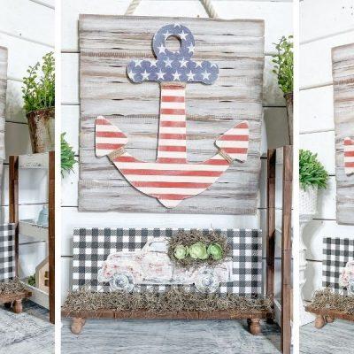 American Flag Anchor DIY Patriotic Decor