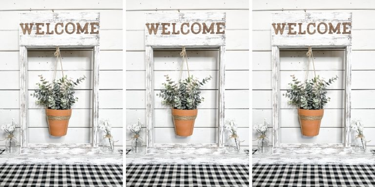 DIY Front Porch Hanging Flower Basket Stand