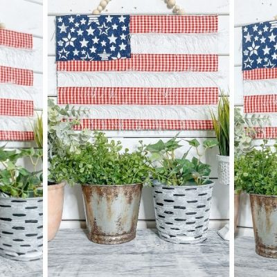 DIY Blue Jean American Flag