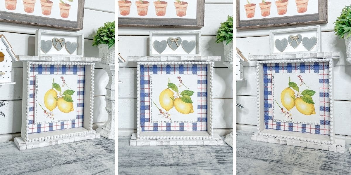 How to make DIY Lemon Decor with Napkins