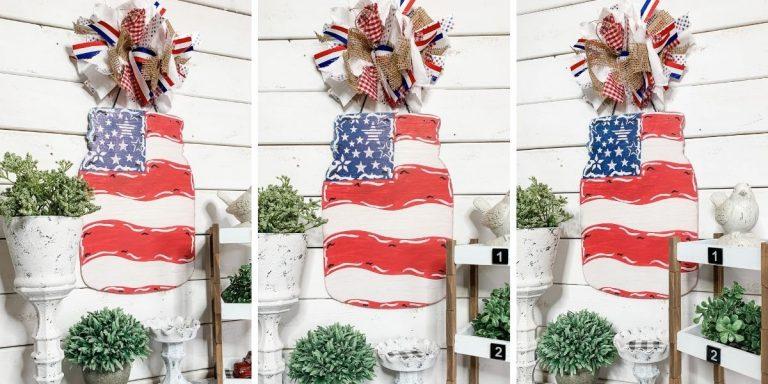 DIY Patriotic Dollar Tree Mason Jar