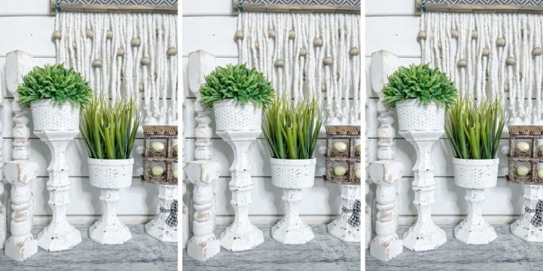 Dollar Tree Candle Holder DIY Plant Stands