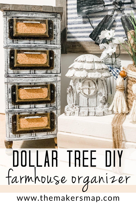 Dollar Tree DIY Farmhouse Organizer
