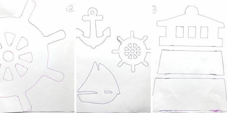 Nautical Coastal Free Printable Template