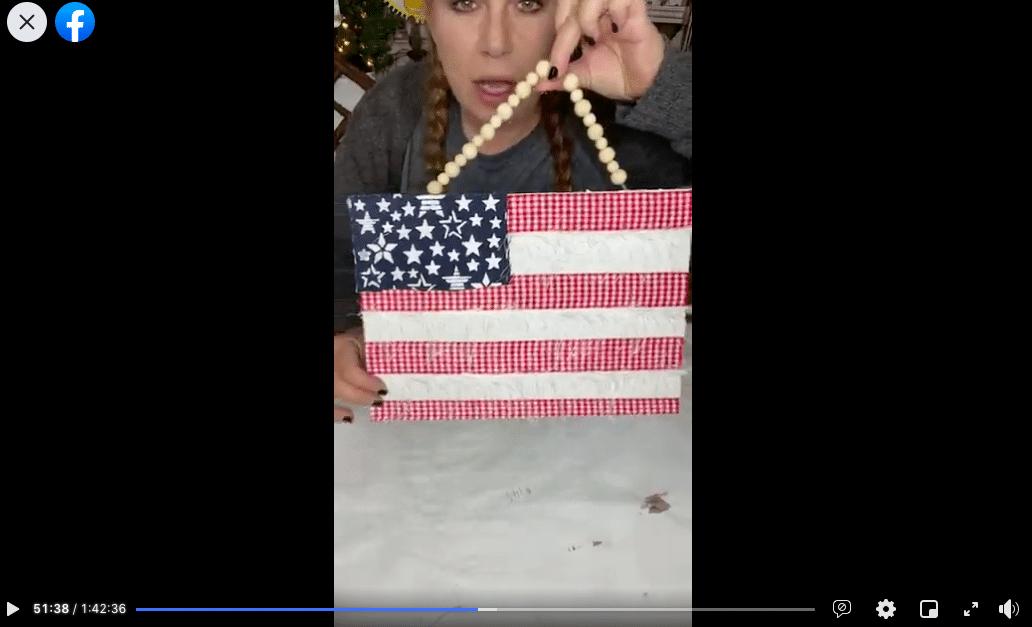 DIY Blue Jean American Flag