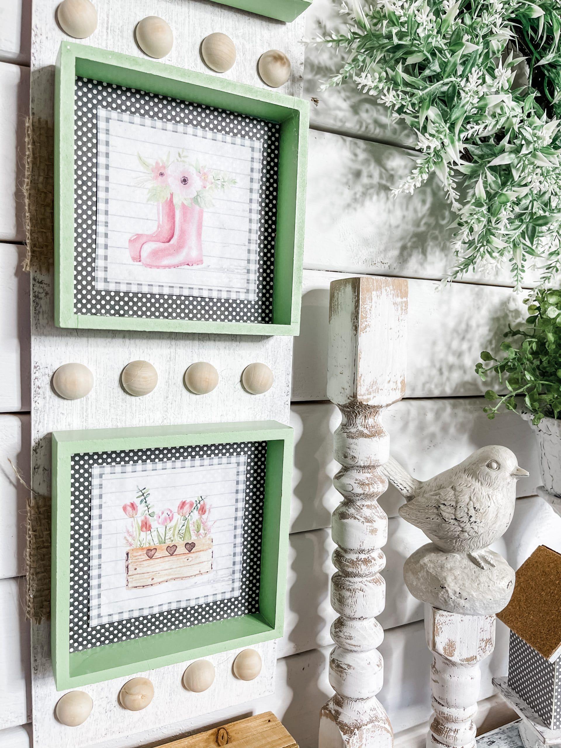 Spring Printables into DIY Decor