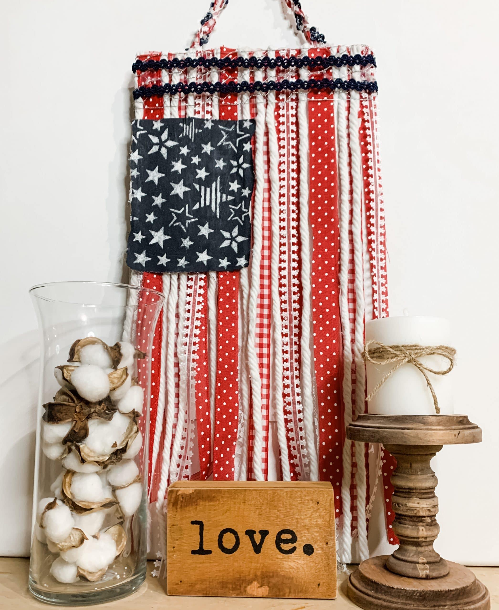 DIY Ribbon American Flag