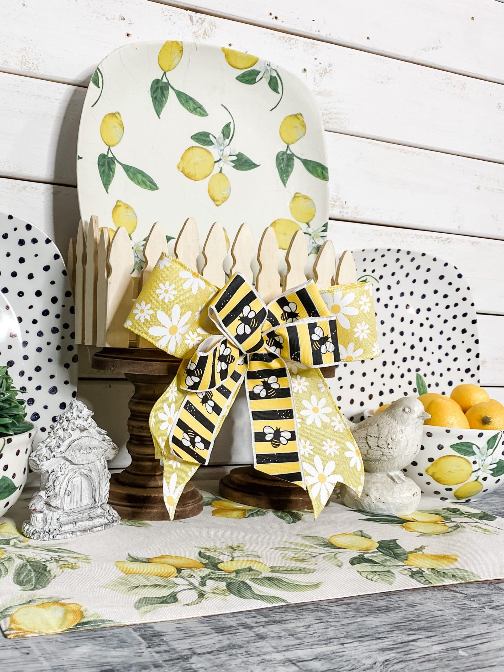 Dollar Tree DIY Lemon Themed Dishes
