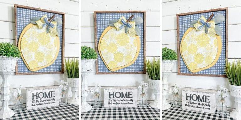 DIY Lemon Napkin Sign