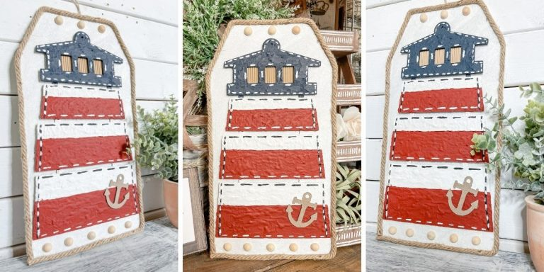 Dollar Tree Lighthouse DIY Nautical Decor