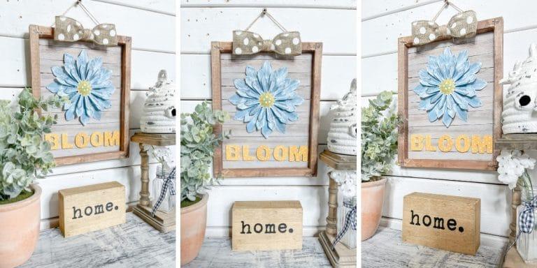 Easy Reverse Canvas DIY Decor for Summer or Spring