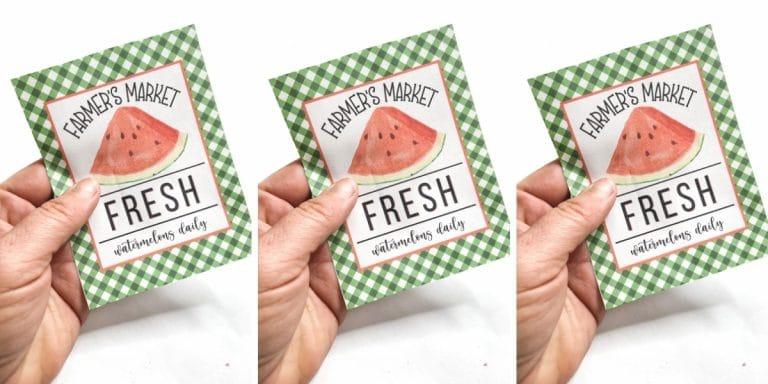 Free Summer Watermelon Printable
