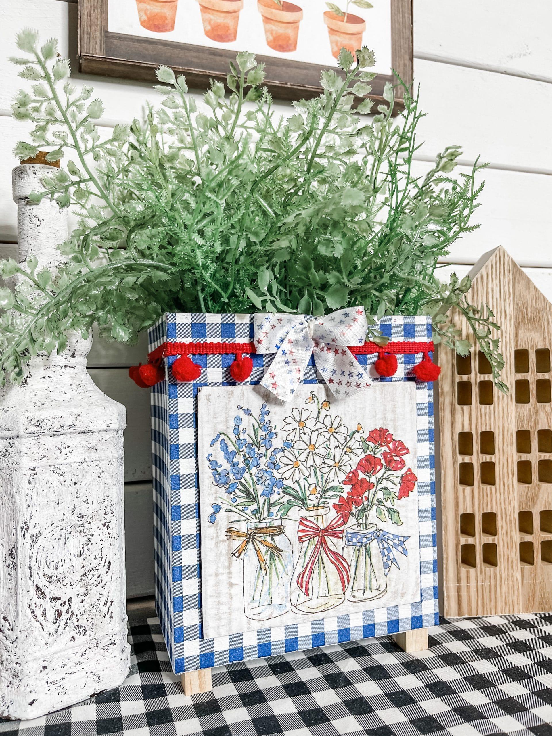 Dollar Tree DIY 4th of July Planter