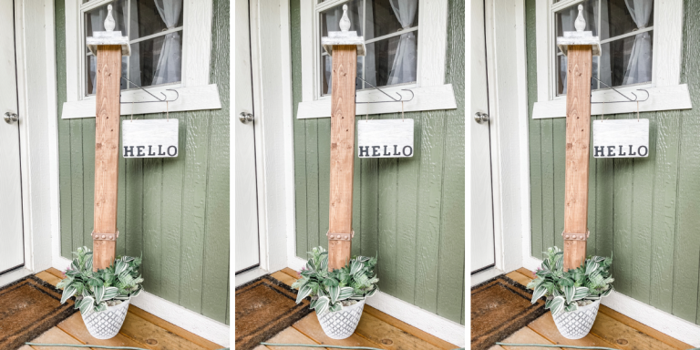 DIY Welcome Porch Post