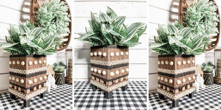 Bamboo Skewer DIY Planter Box