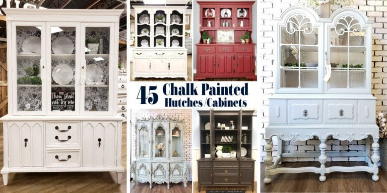 Chalk Painted Hutch and China Cabinet Ideas