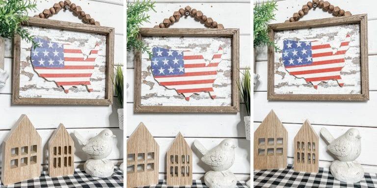 Chippy USA Reverse Canvas DIY Home Decor