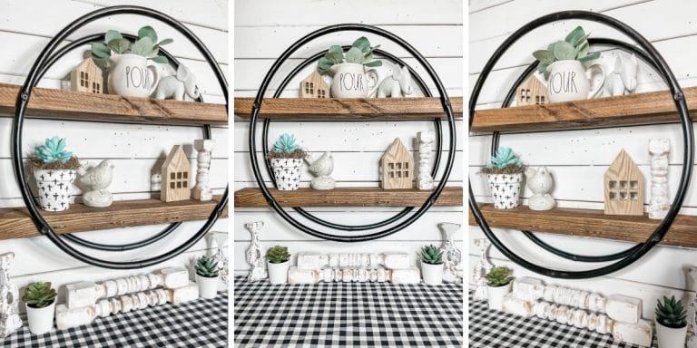 How to Make a Hula Hoop Shelf