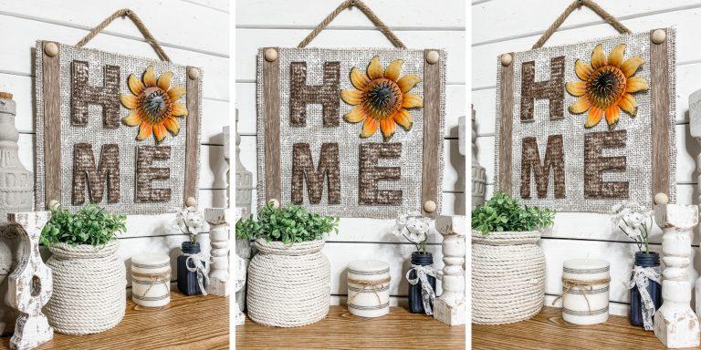 DIY Fall Home Sign