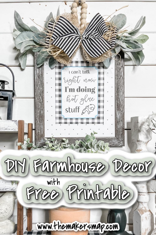 DIY Farmhouse Decor with Free Printable