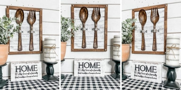 DIY Faux Rust Fork and Spoon Wall Decor
