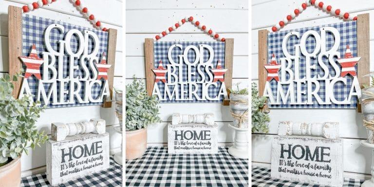 DIY God Bless America Sign