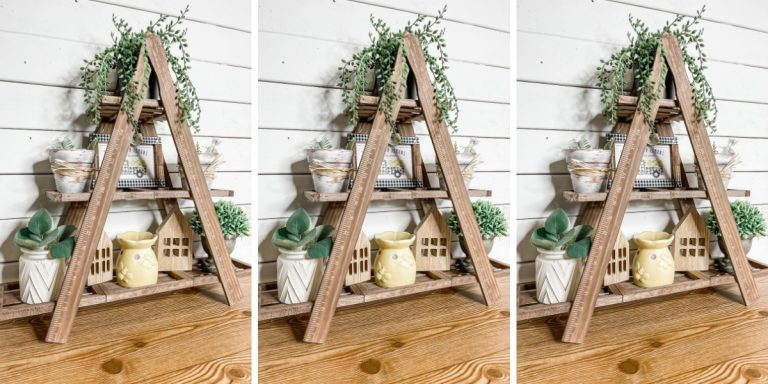 DIY Triangle Tiered Tray Stand