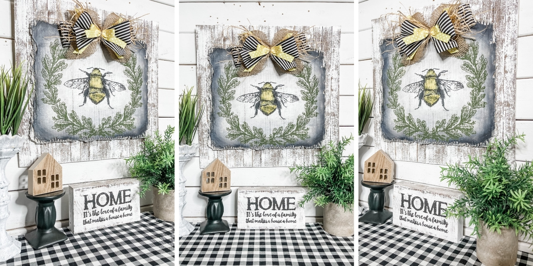 Easy DIY Bumble Bee Farmhouse Home Decor
