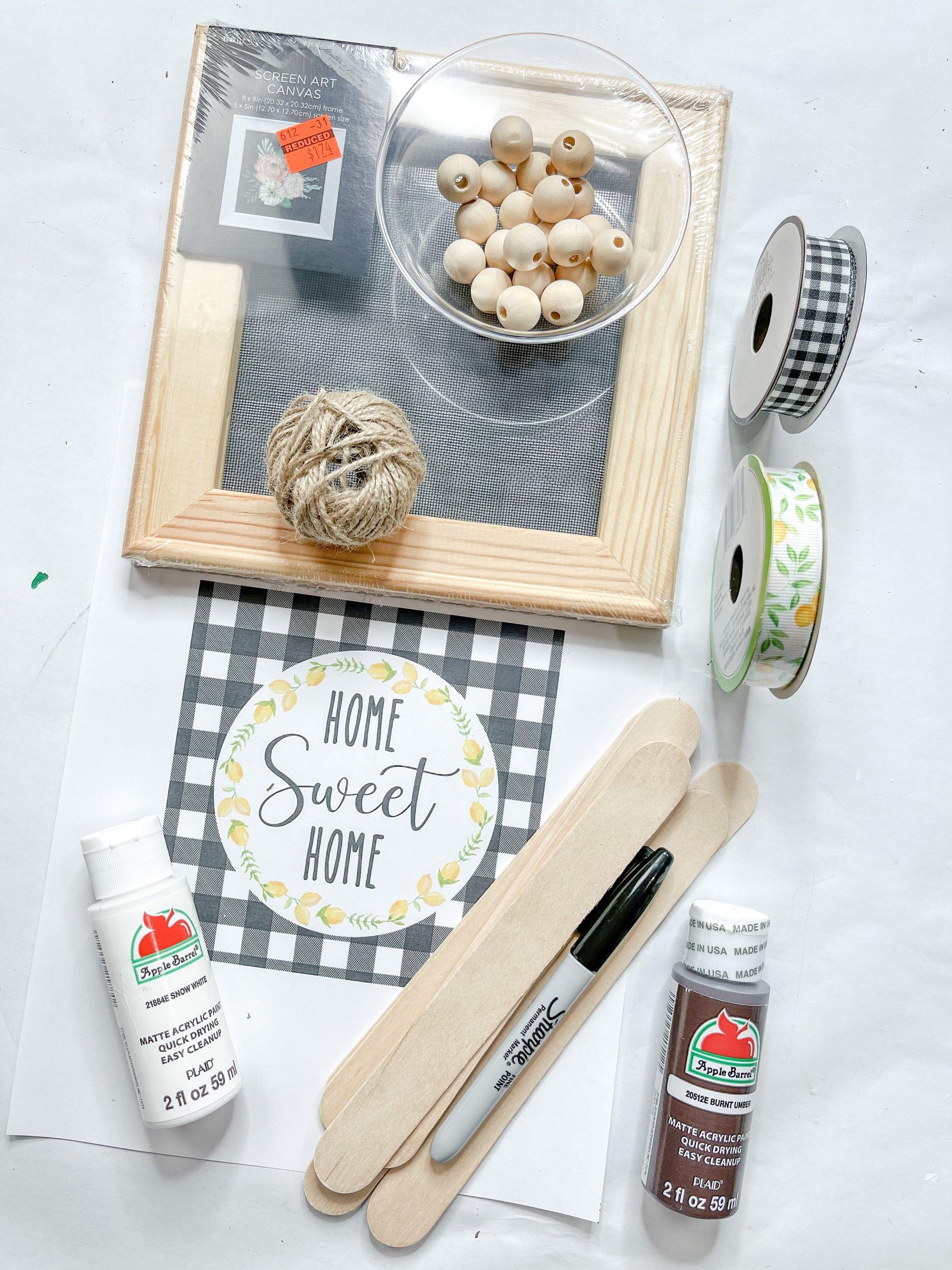 Home Sweet Home Lemon Printable DIY Decor Supplies