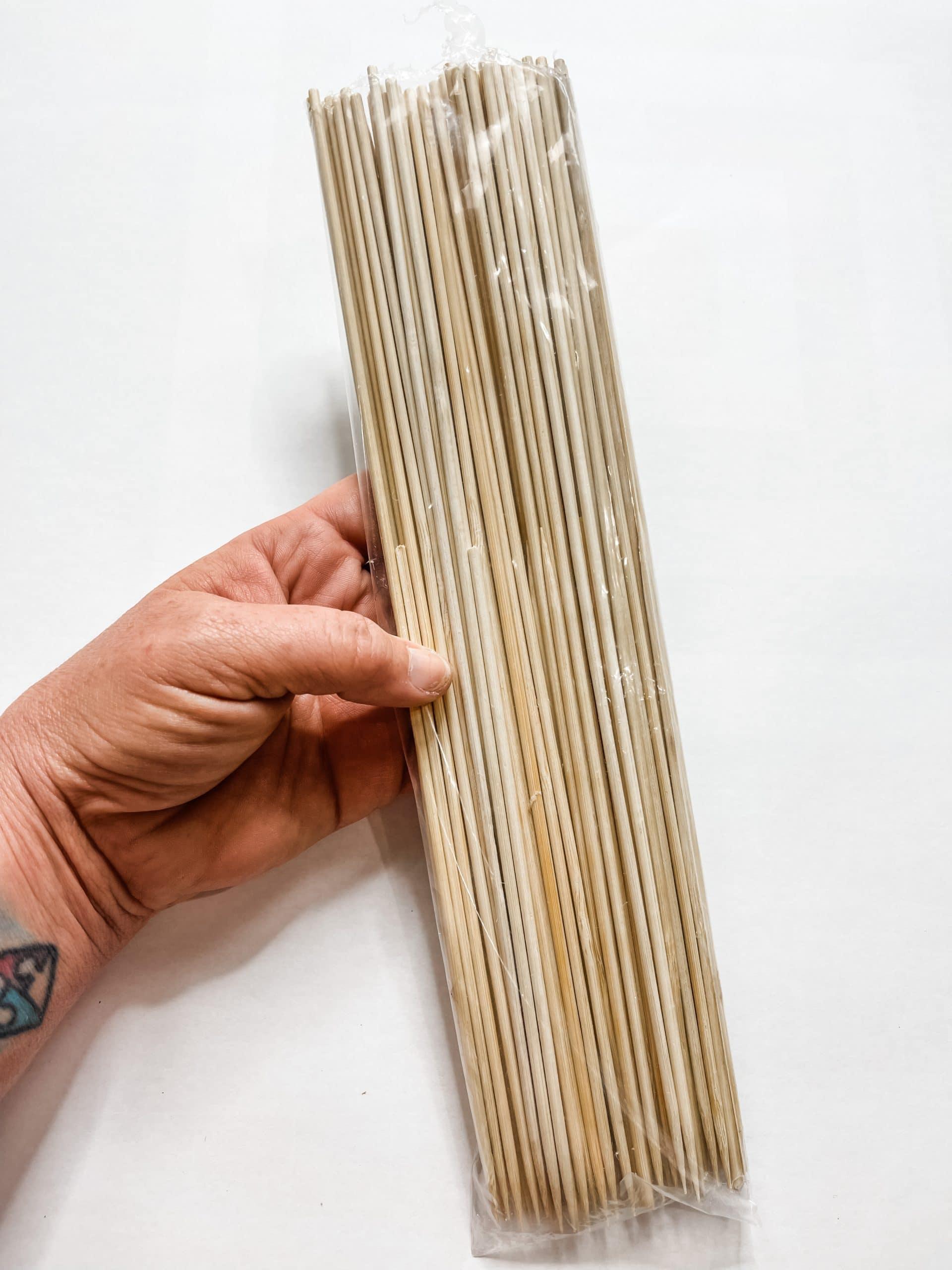 Bamboo Skewer DIY Cutting Board Decor