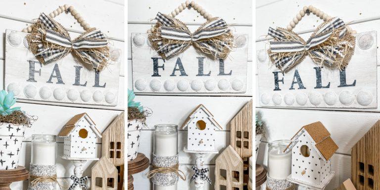 Affordable DIY Farmhouse Fall Sign