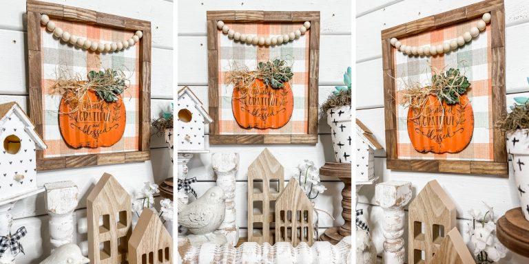 DIY Fall Pumpkin Rustic Home Decor