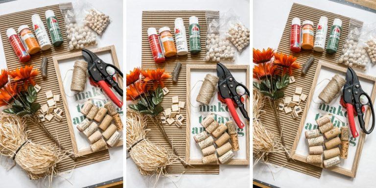 Wine Cork Craft DIY Pumpkin
