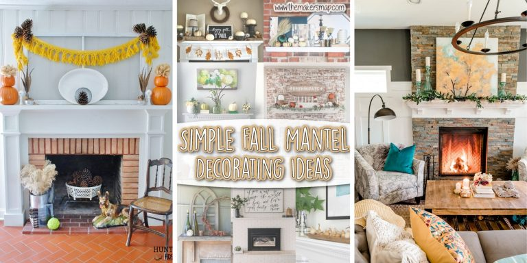 Simple Fall Mantel Decor Ideas
