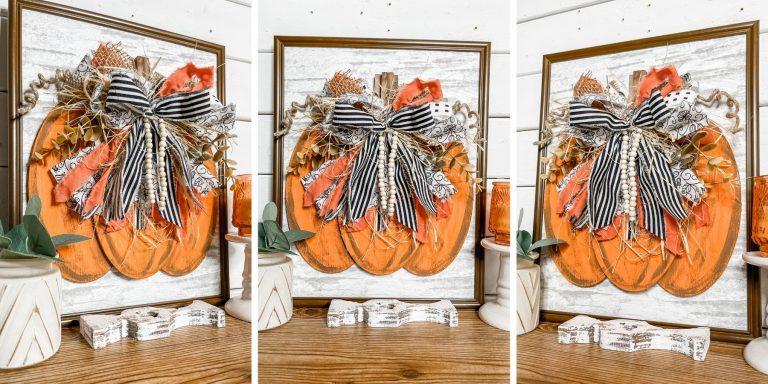 DIY Dimensional Pumpkin Sign