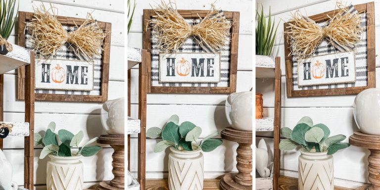 DIY Stenciled Home Fall Sign