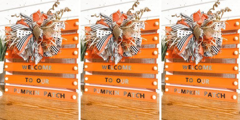 DIY Fall Pumpkin Crate Decor