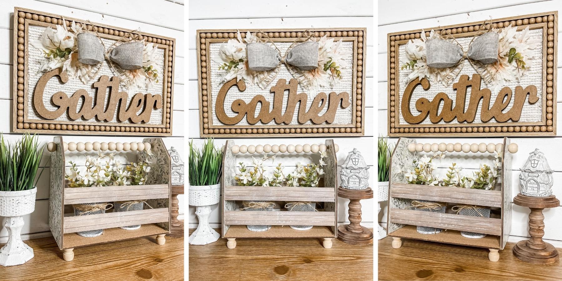 Farmhouse Style DIY Gather Sign