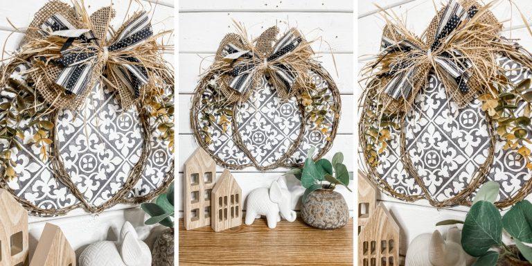 Hobby Lobby Placemat DIY Pumpkin Door Hanger