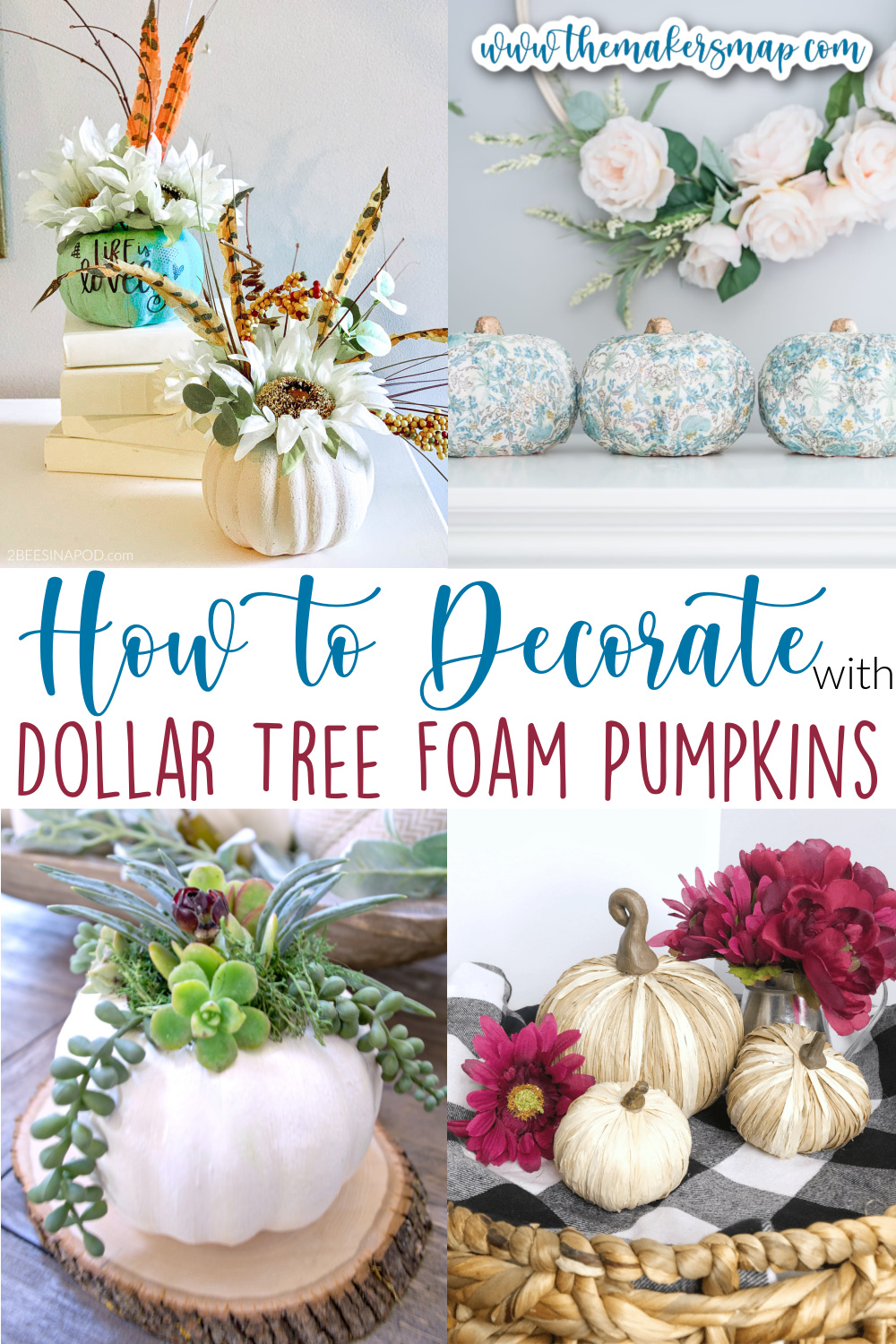 How to Decorate with Dollar Tree Foam Pumpkins