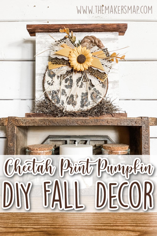 Cheetah Print Pumpkin DIY Fall Decor
