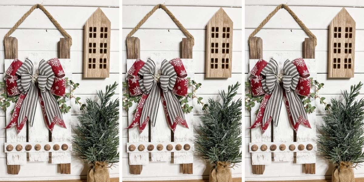 DIY Decorative Christmas Sled
