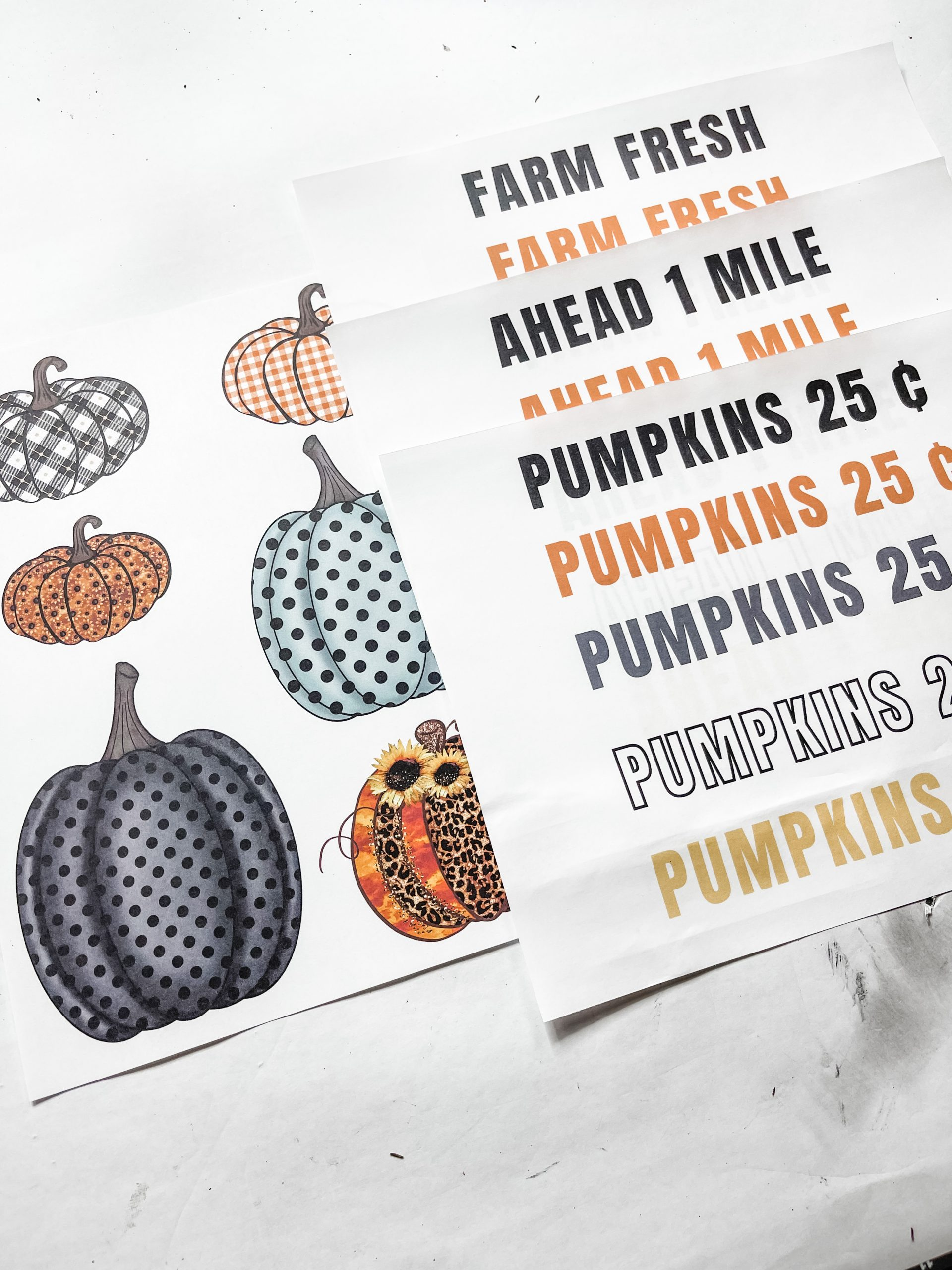Fall Pumpkin Sign using Printables