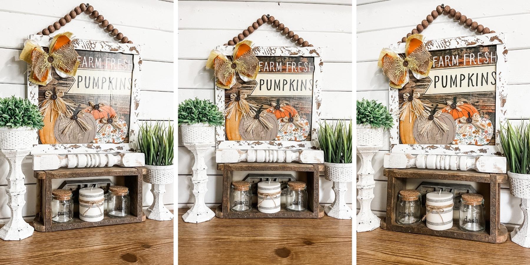 DIY Chippy Farm Fresh Pumpkins Sign